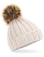 Infant Fur Pop Pom Chunky Beanie